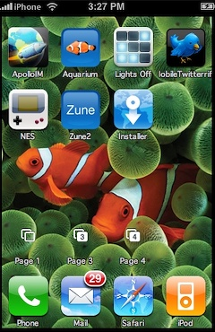 Apple iphone fish background interfaces
