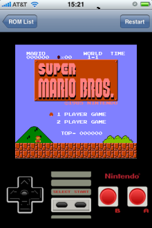 iphone Nintendo games - super mario bros