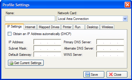 Net Profiles - Network Configuration and setting