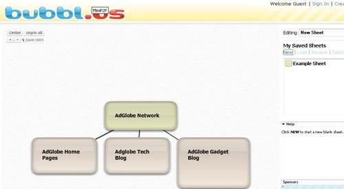 Bubbls - Simple Online Mind Mapping Tools