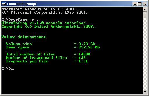 ultra defrag - Free Disk Defragment