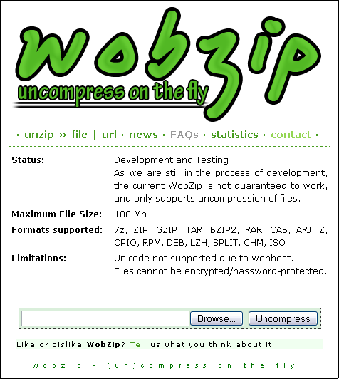 wobzip - Online Compress services