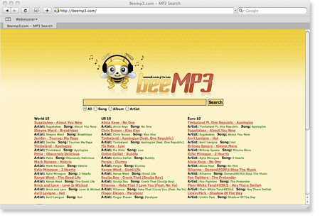 BeeMp3 - MP3 Online search engine