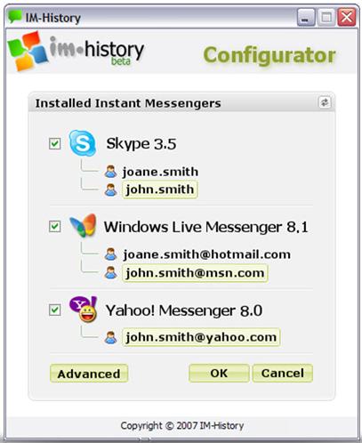 IM_History Configuration