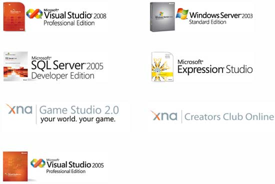 free microsoft developer tools software and license key for student