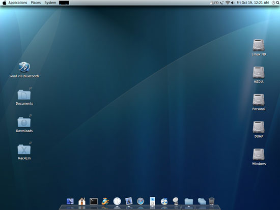 Make linux desktop like Mac os x leopard using mac4lin