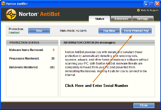 Free Norton AntiBot 1 year serial key