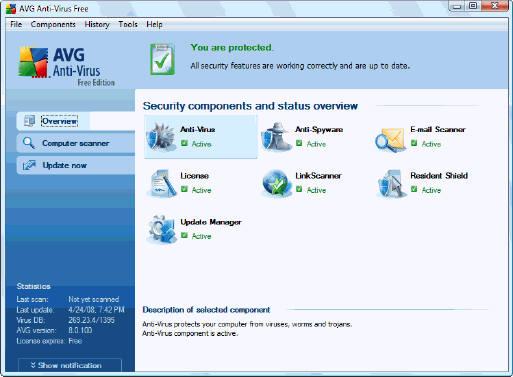 Download AVG Anti-Virus 8.0 Free Edition