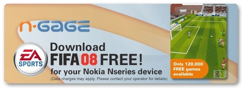 Free Fifa 08 Mobile Game download for Nokia N-Series mobile phone