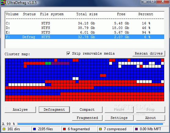 UltraDefragment - Free Windows Disk Defragment Utility