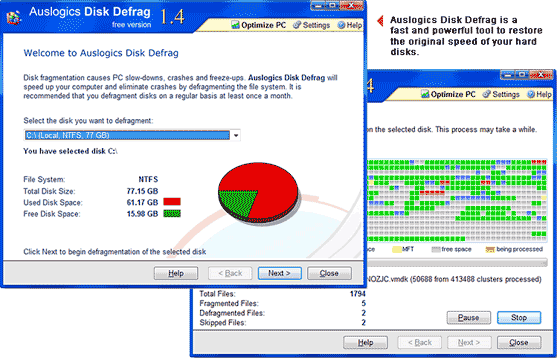 Auslogic Windows Defrag Tool