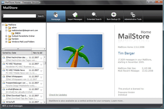 MailStore Home - Centerlized Email backup solution