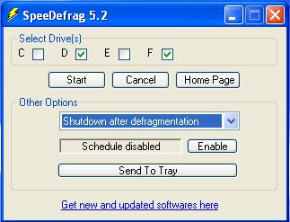 SpeeDefrag - Windows defrag tool