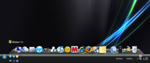 Windows Mac OS X Dock - RocketDock