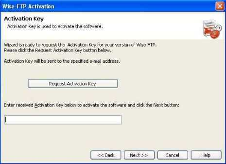 Activate Wise FTP genuine serial key