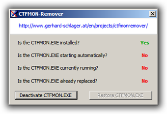 ctfmon remover - application to remove ctfmon process on windows