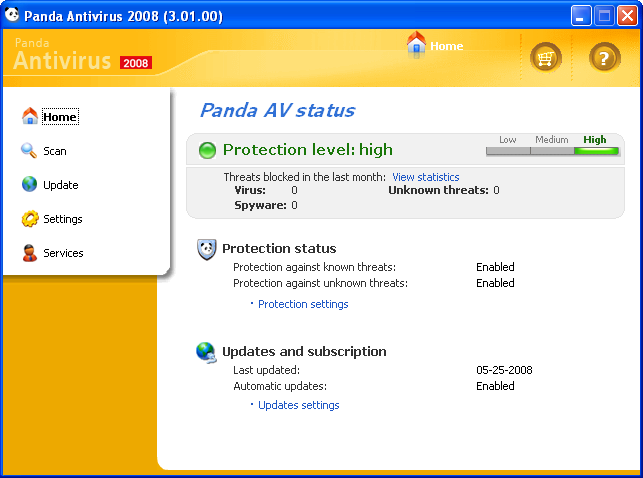 Free Panda AntiVirus 2008 and Panda AntiVirus Plus firewall 2008