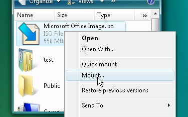 Mount ISO image and Zip files using Pismo file mount on windows