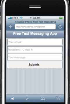 Send free sms on iphone