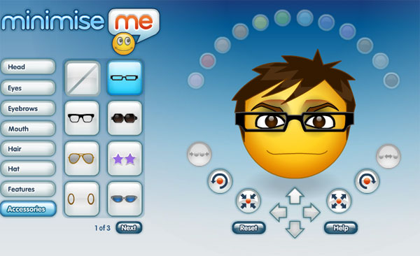 Minimize me - create msn emoticons and MSN avatar character