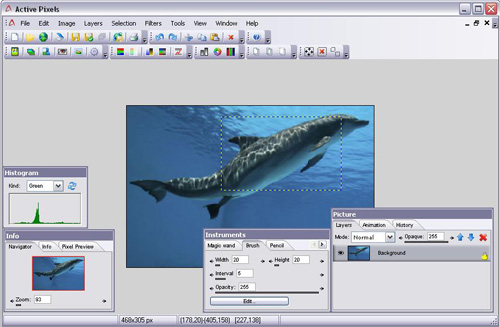 active pixels - free alternative photoshop images editor software
