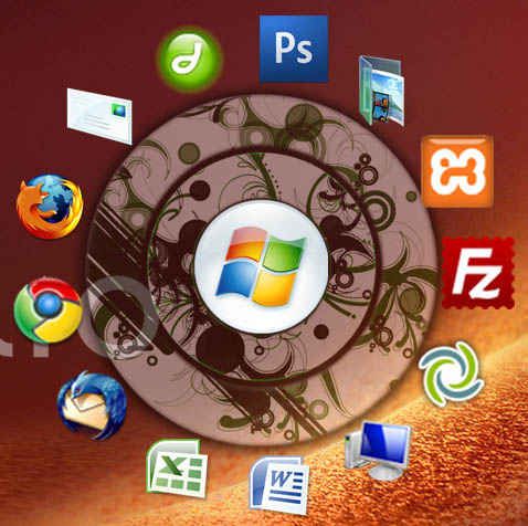 circle dock - free windows application launcher