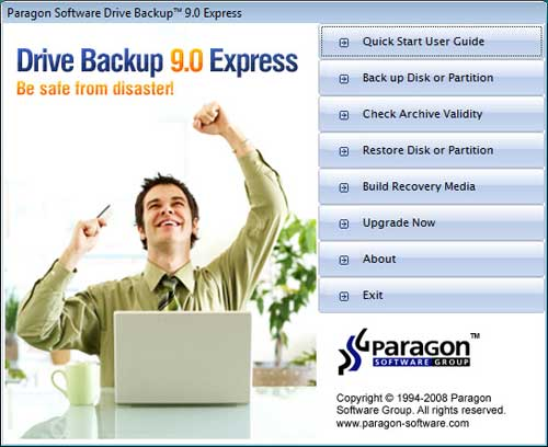 Download Free Paragon Drive Backup Express