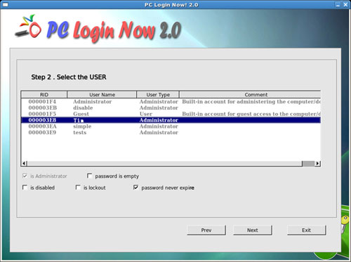 PCLoginNow - reset and recover windows admin password software