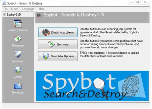 spybot - free anti spyware download