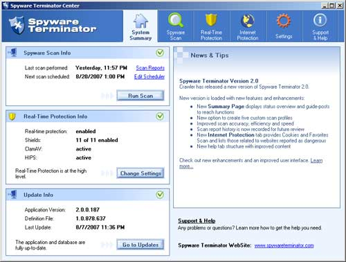 Spyware Terminator - free spyware removal download