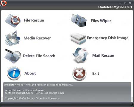 undeletemyfiles - Free Data Recovery software