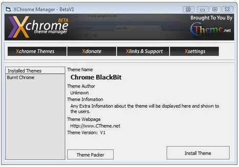 xchrome theme manager to install chrome theme automatically