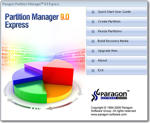 Paragon Partition Manager 9.0 Express