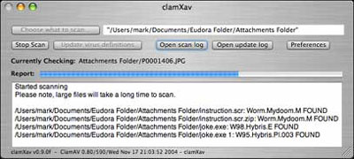 ClamXav - Free Mac Antivirus