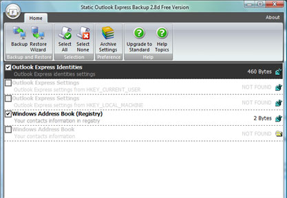 Free static outlook express backup free