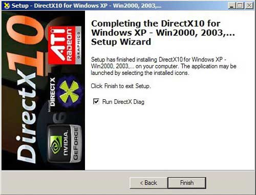 install DirectX 10 DLL on XP