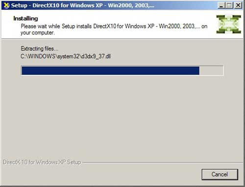 Install DirectX 10 on XP 2000 2003