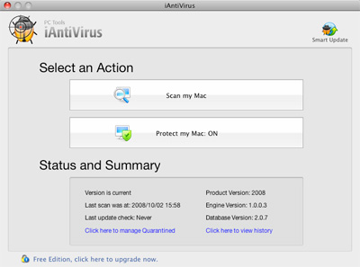 PC Tools iAntivirus - Free Mac OSX antivirus