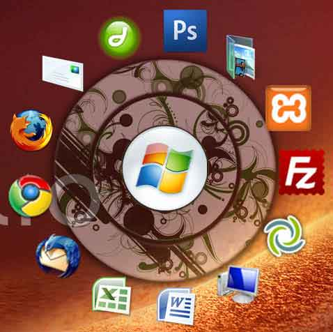circle dock - circle shape windows application launcher