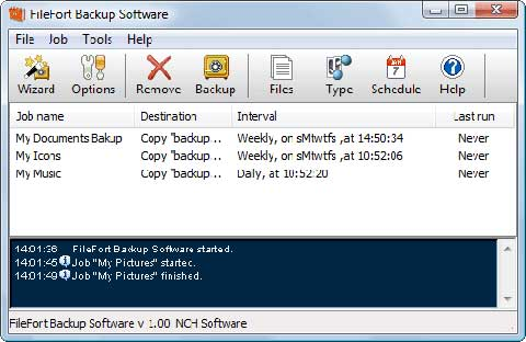 filefort-free file backup software