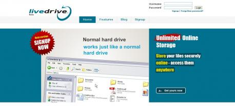 livedrive free unlimited storage