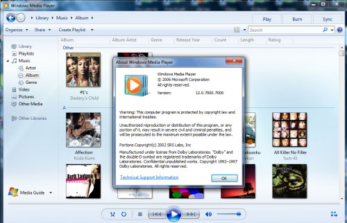 Windows Media player 12 download