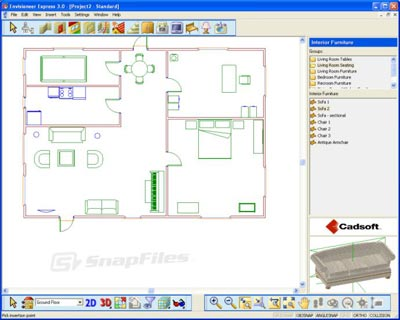 Interior Office Design on Envisioneer Express     Free Residential Home Design Software