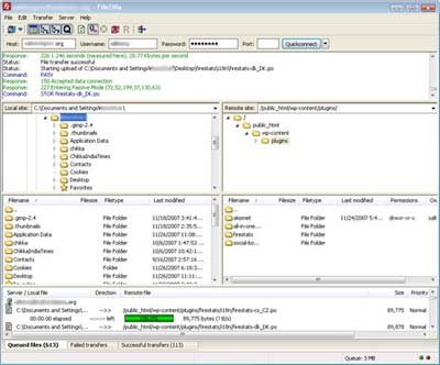 filezilla - free open source ftp client