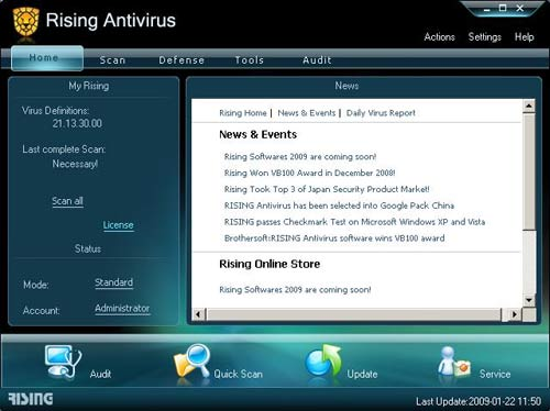 rising free antivirus 2009 edition