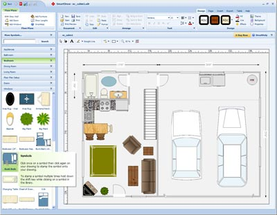 SmartDraw Floor Plan   Free Floor Plan Design Software. Free Home Design Software Download