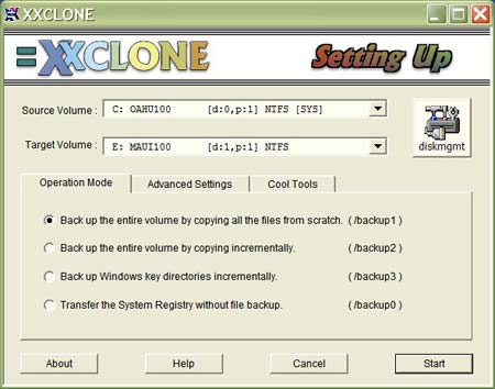xxclone - free windows disk cloning software