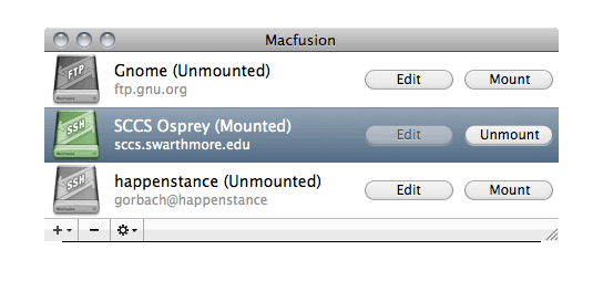 MacFusion Free Mac FTP Client