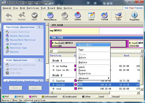 download easeus partition master - free windows partition manager software
