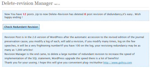 delete wordpress revision post plugin